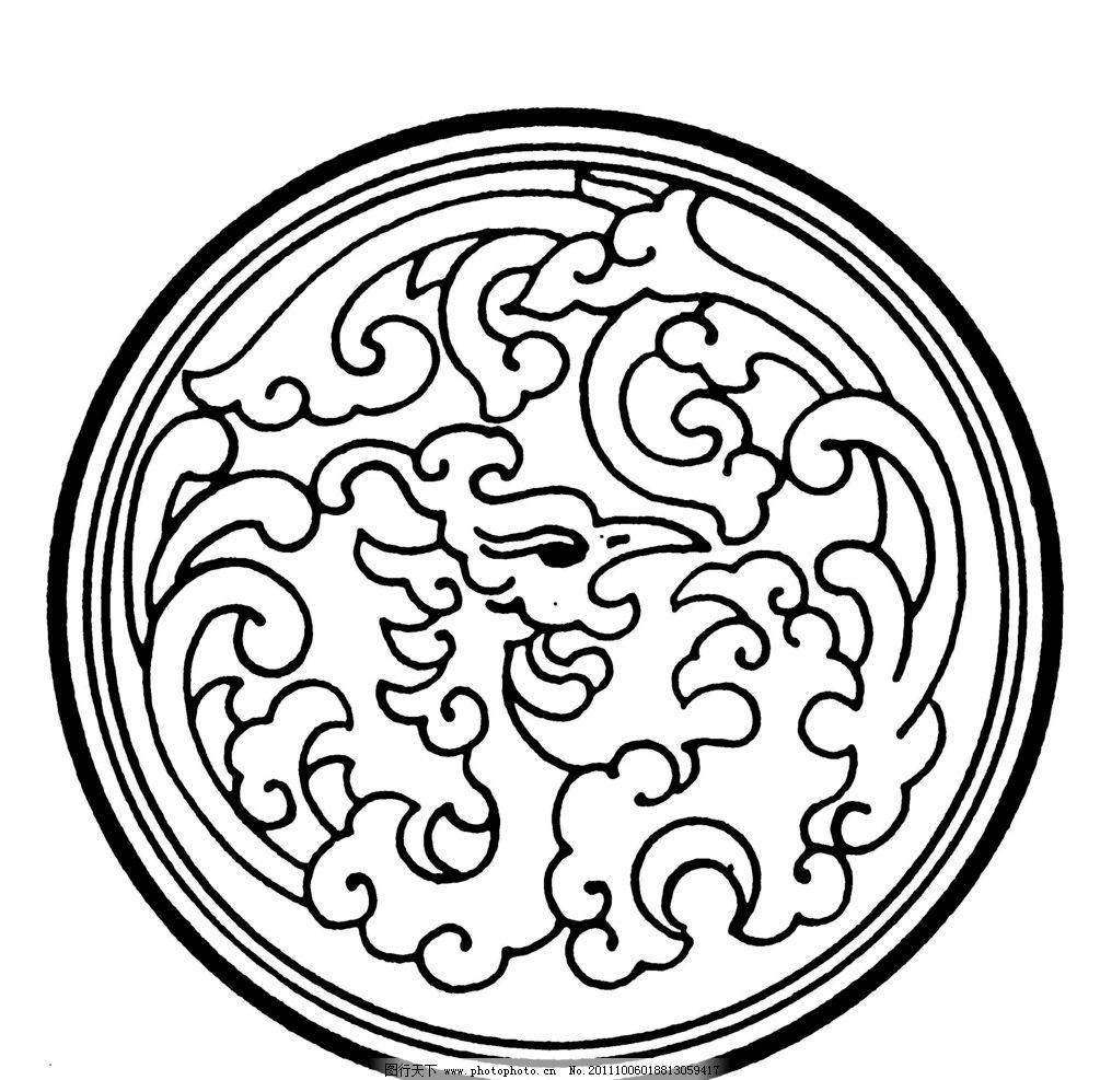 古典图案 传统 古典花纹 线描 圆形图案 传统文化 文化艺术 设计 72dp