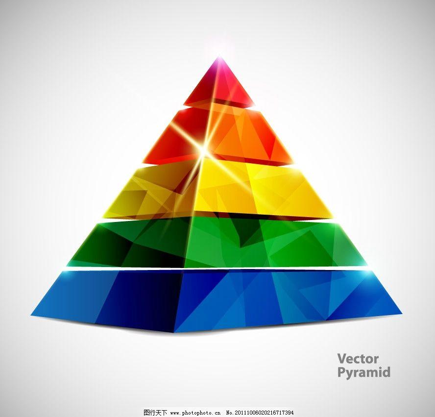 炫彩动感金字塔椎体图片