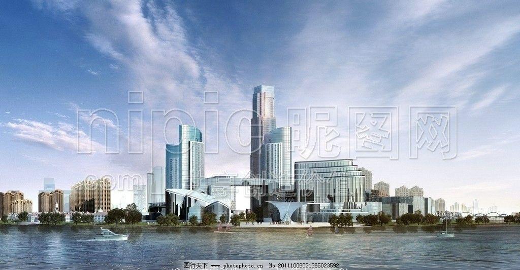 城区效果图 城市建设 城区建设 城区建筑 城区鸟瞰图 高楼大厦