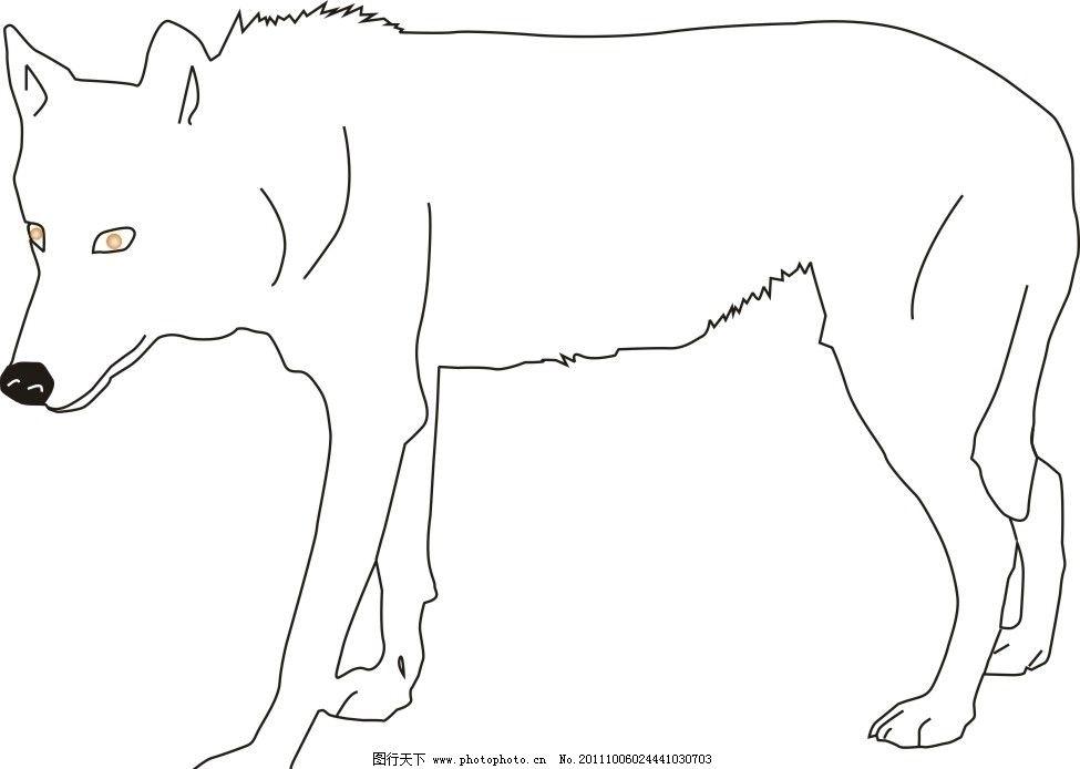 狼狗矢量的狼 狼狗 矢量狼 野狼 狗 野生动物 生物世界 矢量 cdr