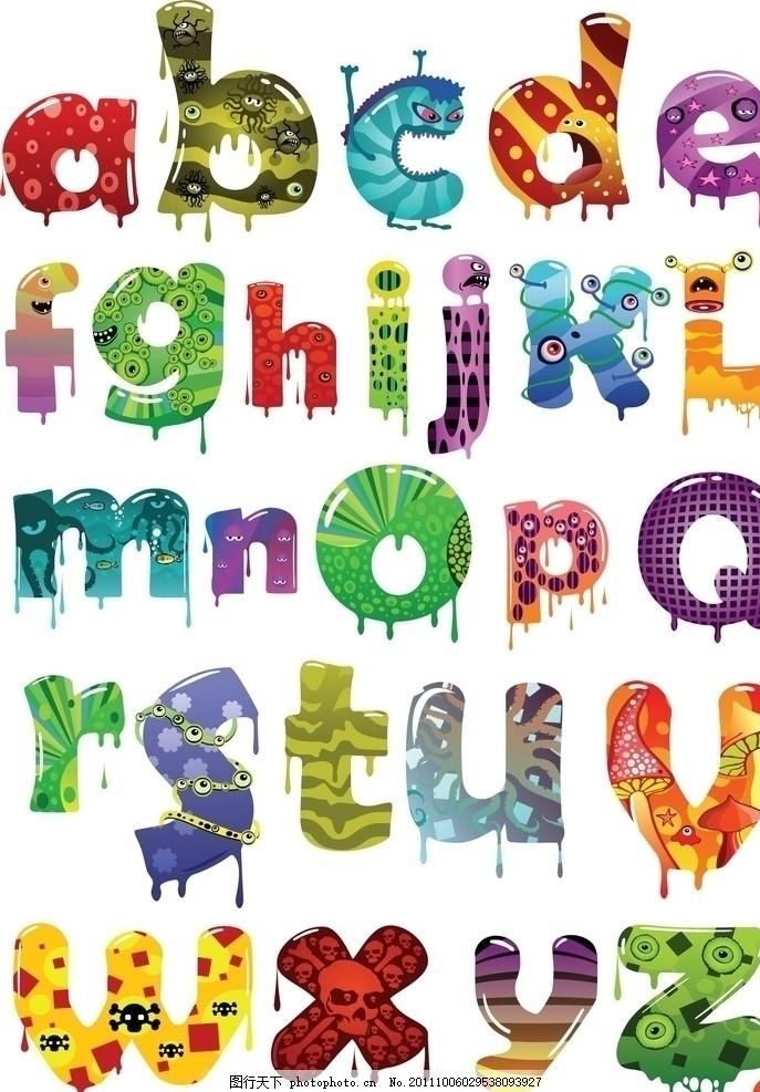 拼音 昆虫字母 卡通字母设计 儿童 幼儿 可爱 符号 字母主题 广告设计