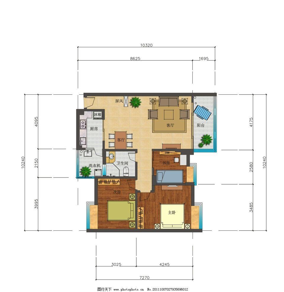 房屋平面图 室内 平面图 室内设计 建筑家居 矢量 cdr