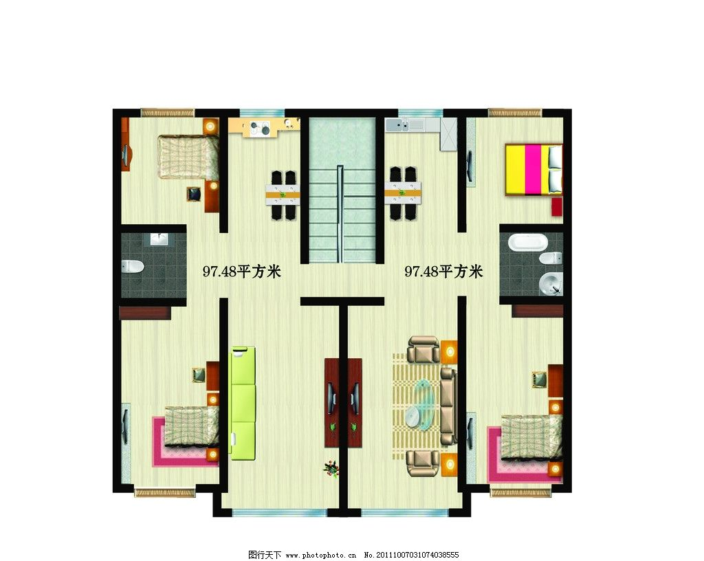 户型图 平面图 室内楼层平面图 楼房格局分布图 其他模版 广告设计