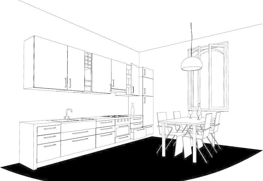 厨房餐厅室内设计图图片