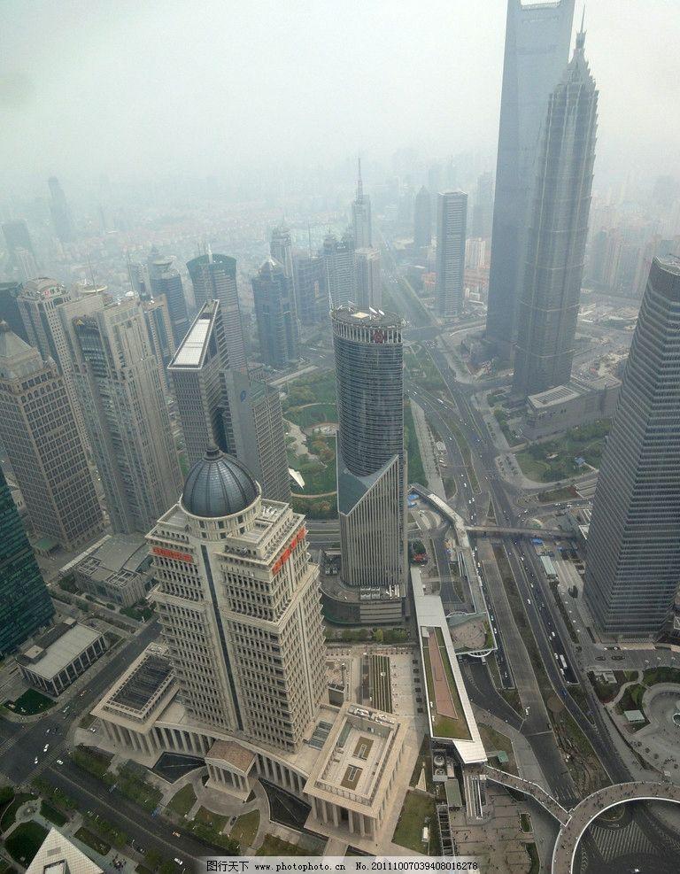 摩天大楼 东方明珠塔顶景观