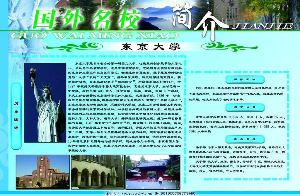 学校必备展板国外名校东京大学图片
