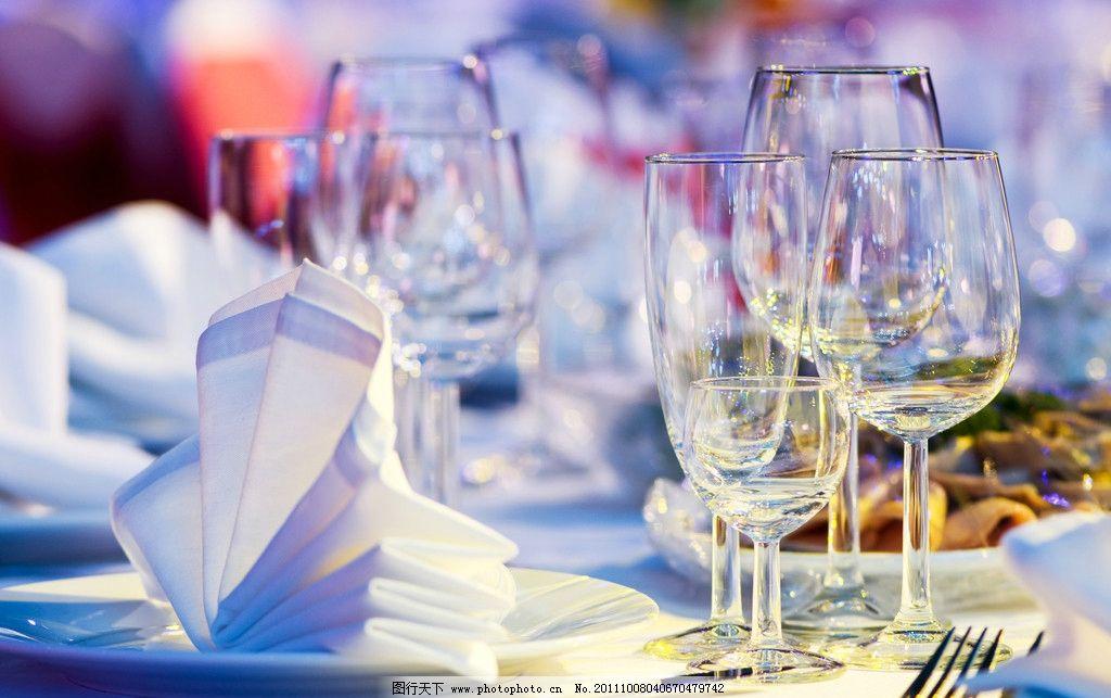 餐桌艺术 酒杯 刀叉 西餐 餐花 摆放艺术 餐桌系列 摄影