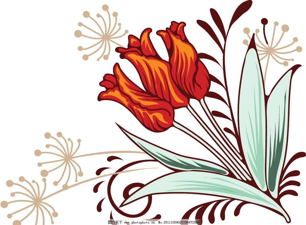 底纹花卉 花朵 鲜花 卡通背景 漂亮 矢量素材 矢量背景 底纹背景