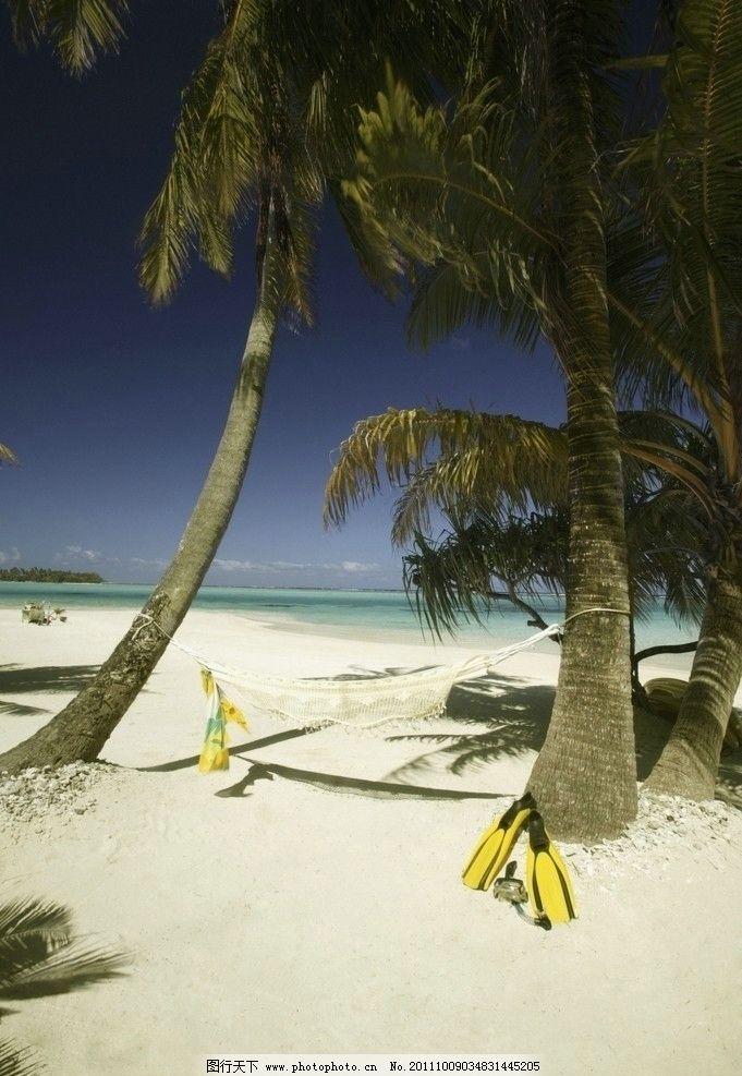 沙滩 海滩 蓝天 白云 海洋 度假 旅游 椰子树 小岛 岛屿 自然风景