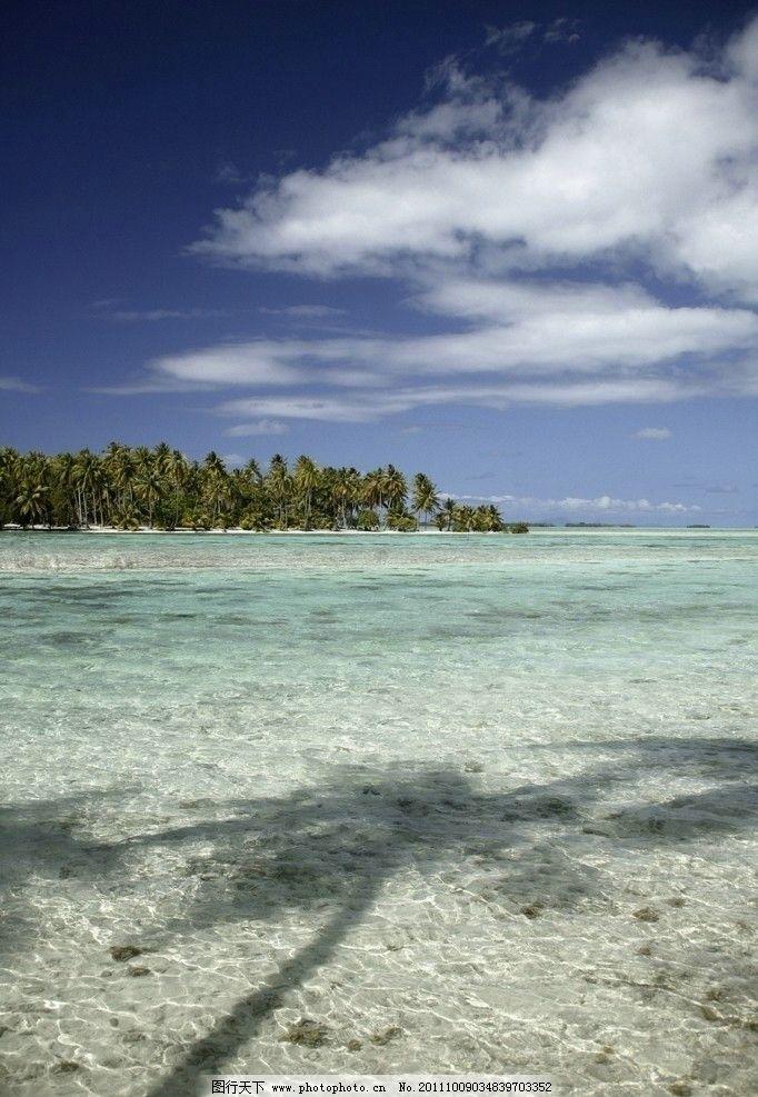 海边风景 大海 沙滩 海滩 蓝天 白云 蓝色大海 海洋 度假 旅游 椰子树