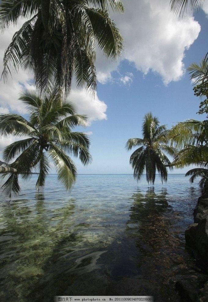 海边风景 大海 沙滩 海滩