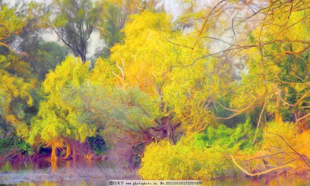 jpg 池塘 风景画 风景油画 绘画 绘画书法 设计 手绘 手绘油画 田间道