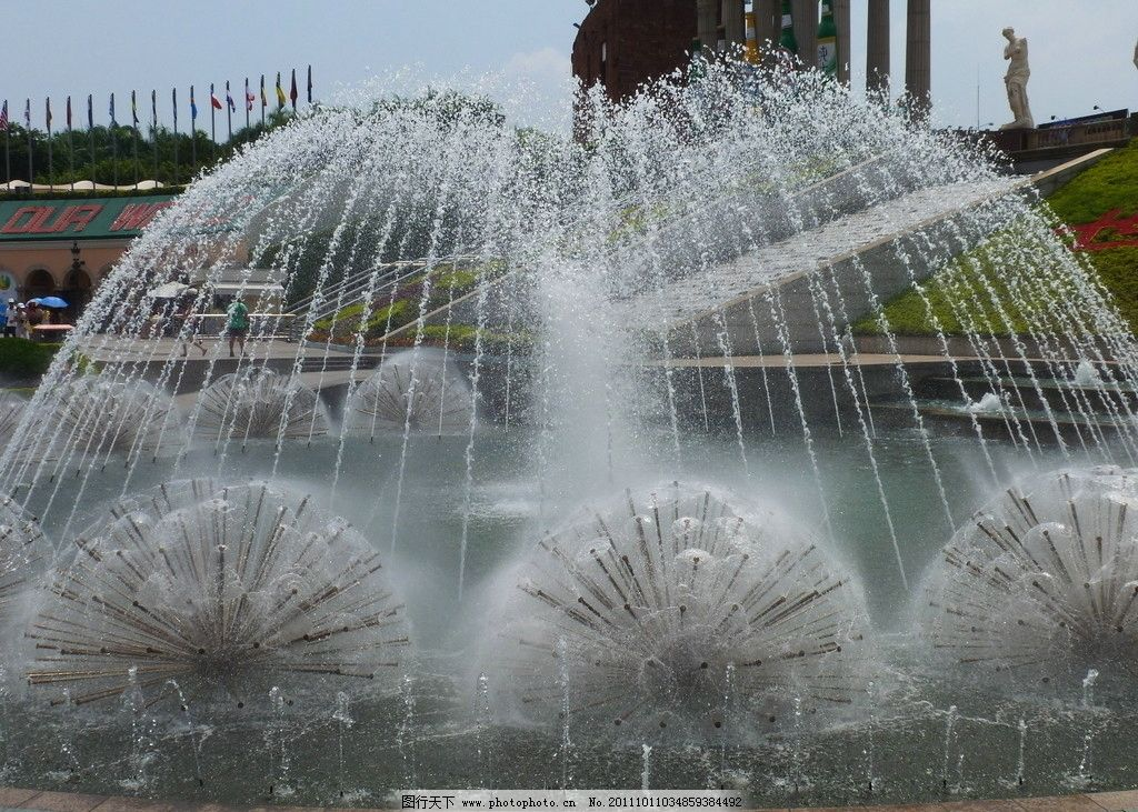 喷泉 水池 园林建筑 建筑园林 摄影 风景 自然风景 建筑 自然景观 180