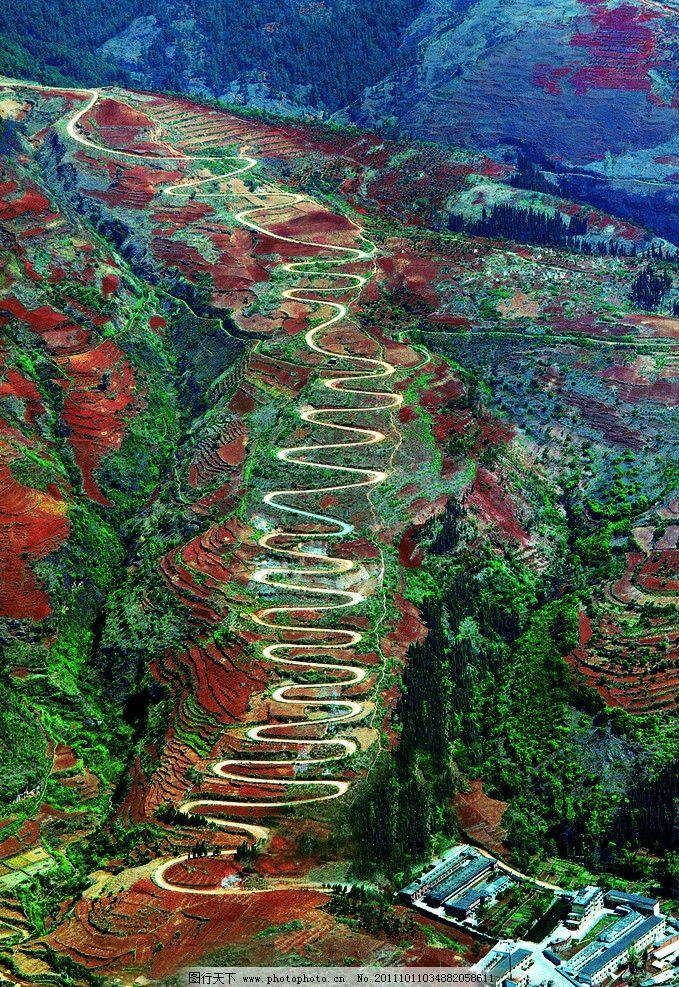世界弯道最多的路 弯路 靖安哨 宜良 自然风景 自然景观 摄影
