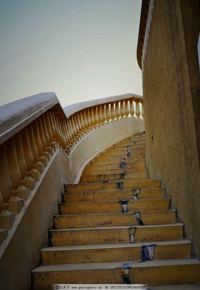 艺术楼梯 台阶 向上 欧式 西式 建筑 复古 墙 日景 无人 竖版