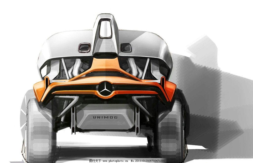 超现代 科技 概念车 越野车 梅赛德斯 benz 汽车 奔驰 座驾 奢侈 名车