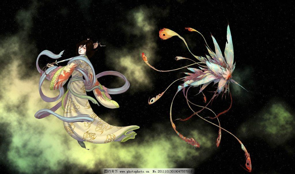 手绘美女 桌面 壁纸 手绘人物 唯美 古典美女 梦幻 绘画书法 文化艺术