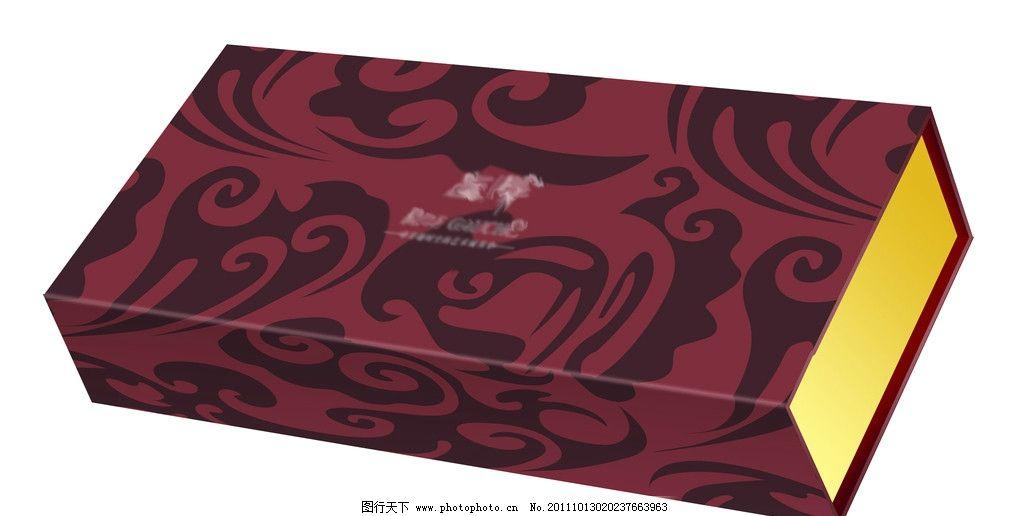 包装盒 云纹 月饼盒 茶叶盒 紫色 古典 金黄 书本型 矢量素材 其他