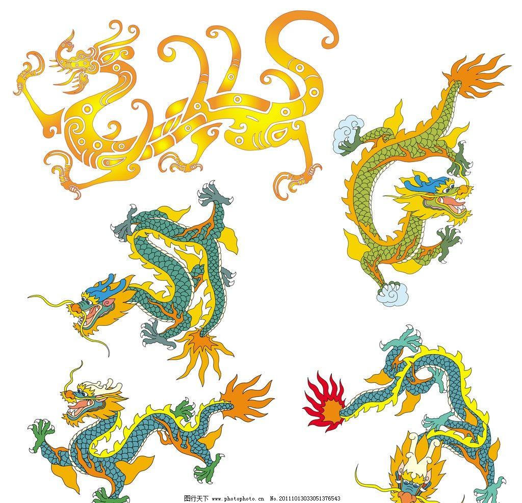 中国龙纹图案图片