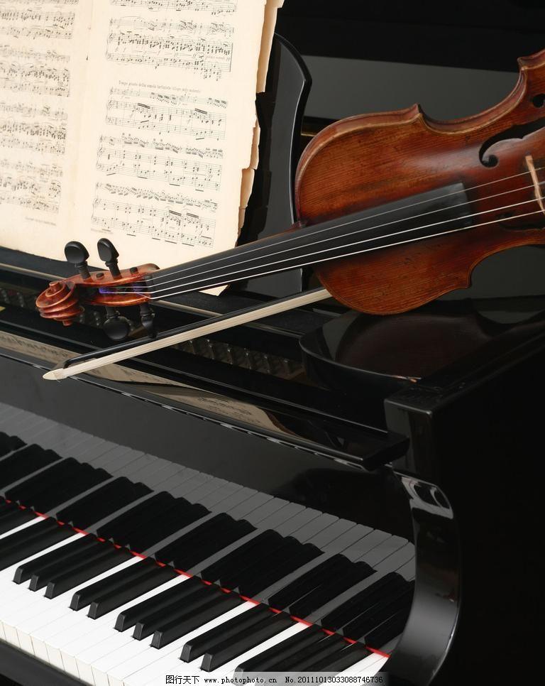 小提琴 钢琴图片图片