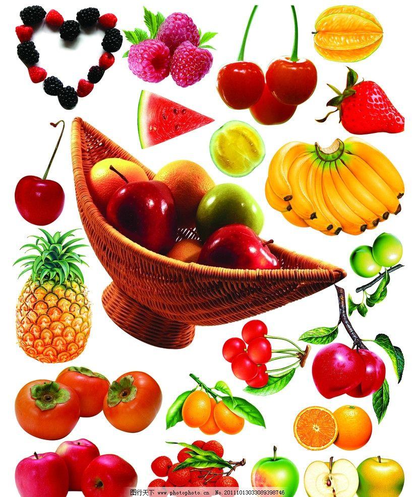 水果拼版图片