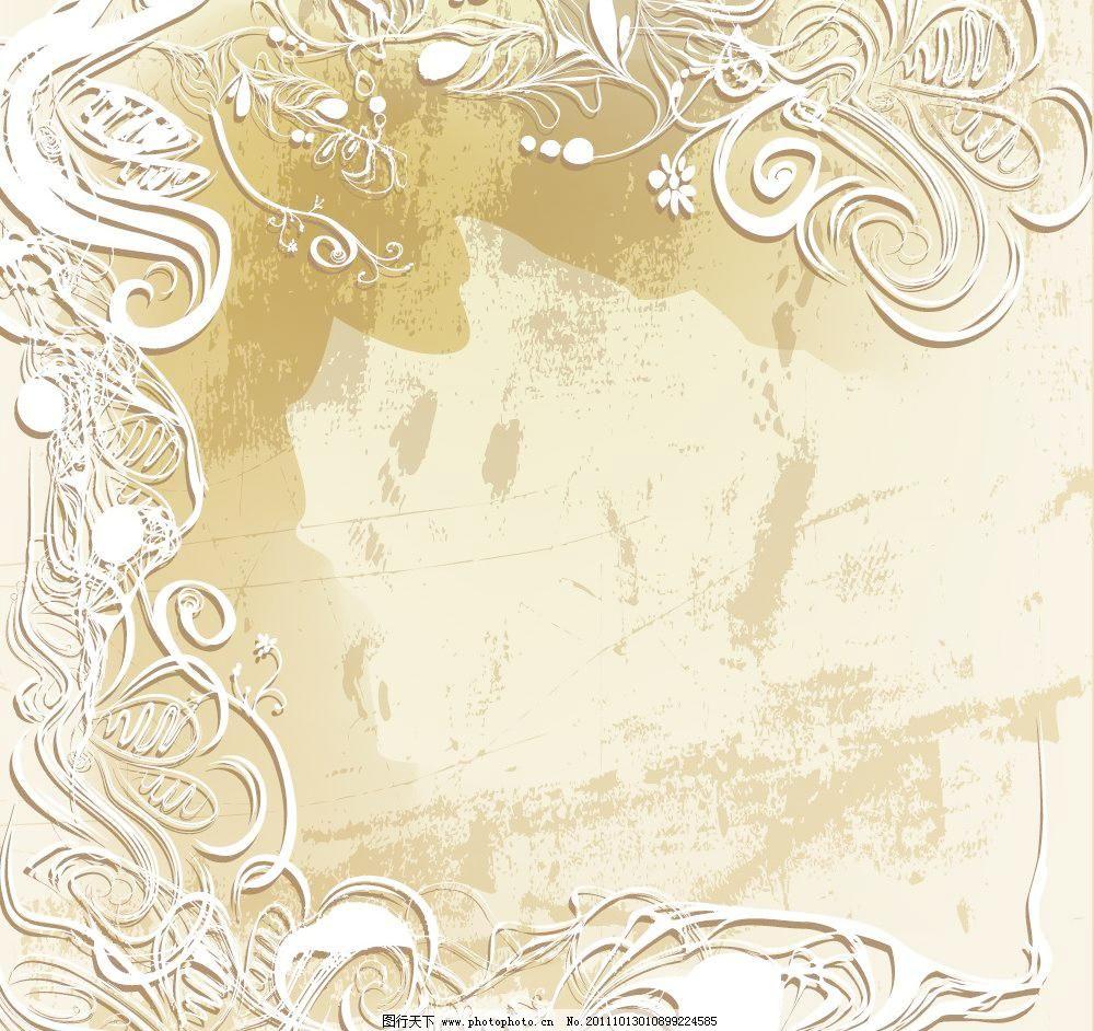 缠绕 传统花纹 底纹边框 复古 复古花纹 古典 古典花纹 花边 欧式花纹