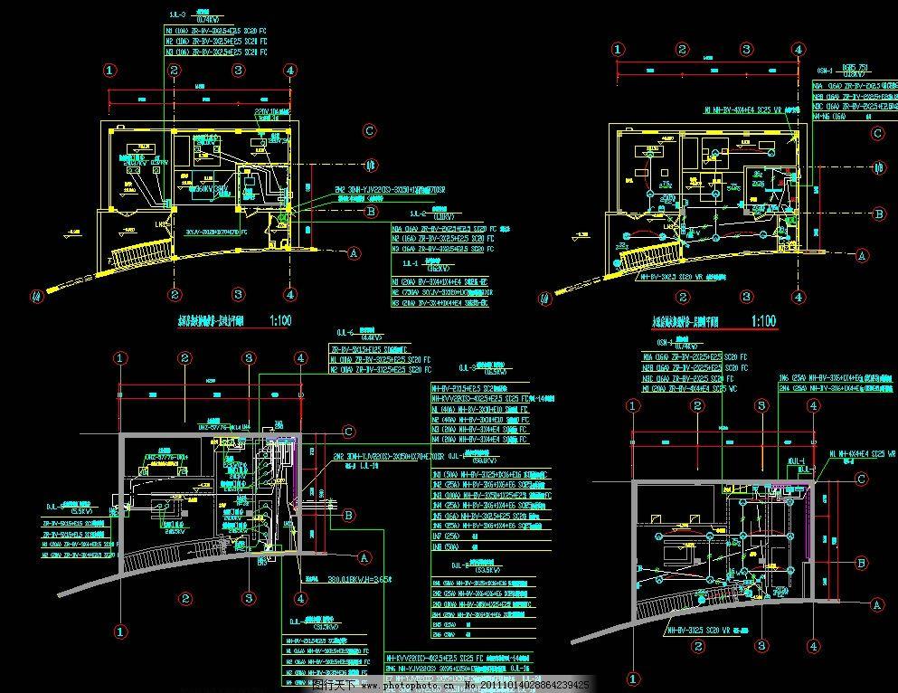 热交换机房 锅炉房电力 照明平面 配电 弱电 照明 干线 配电箱 三相电