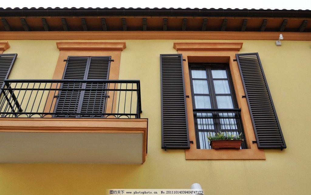 欧式建筑窗户露台图片