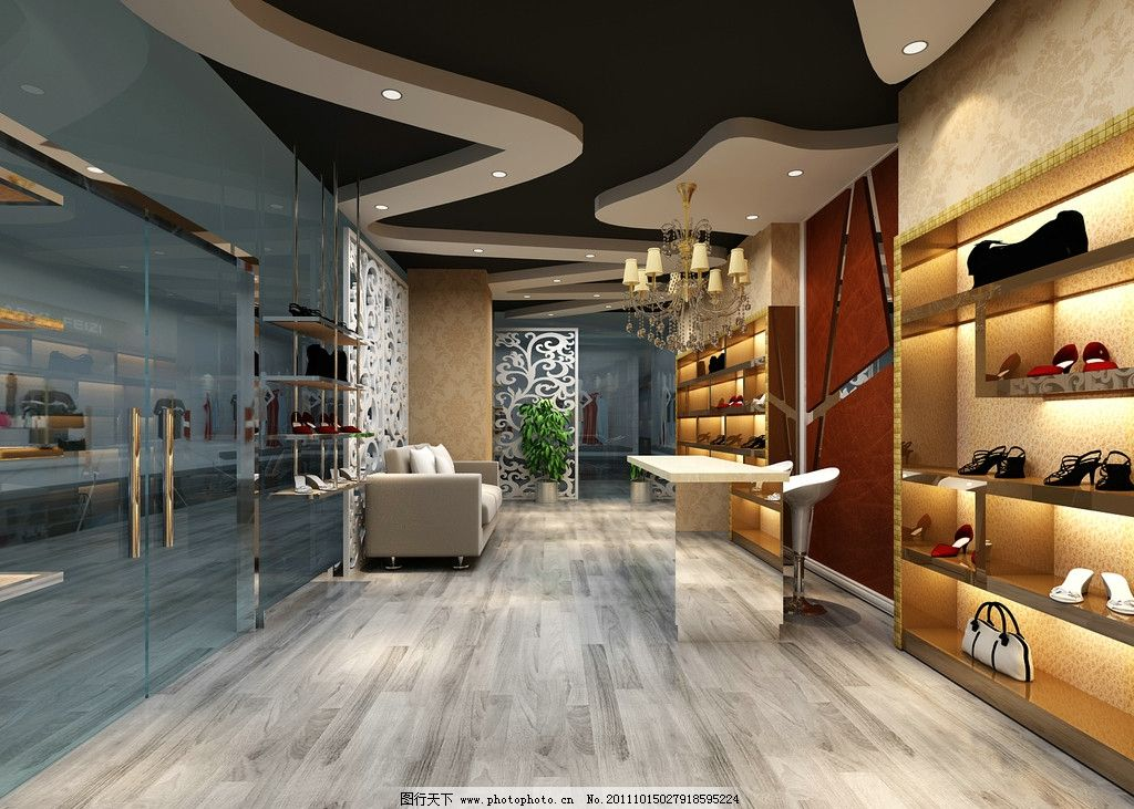 女鞋店效果图 鞋店 女鞋      服装店        设计图 店面装修 室内设