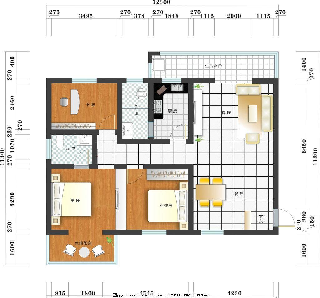 房地产素材 广告设计 宣传单页 平面图 矢量 床 沙发 餐桌 衣柜 木