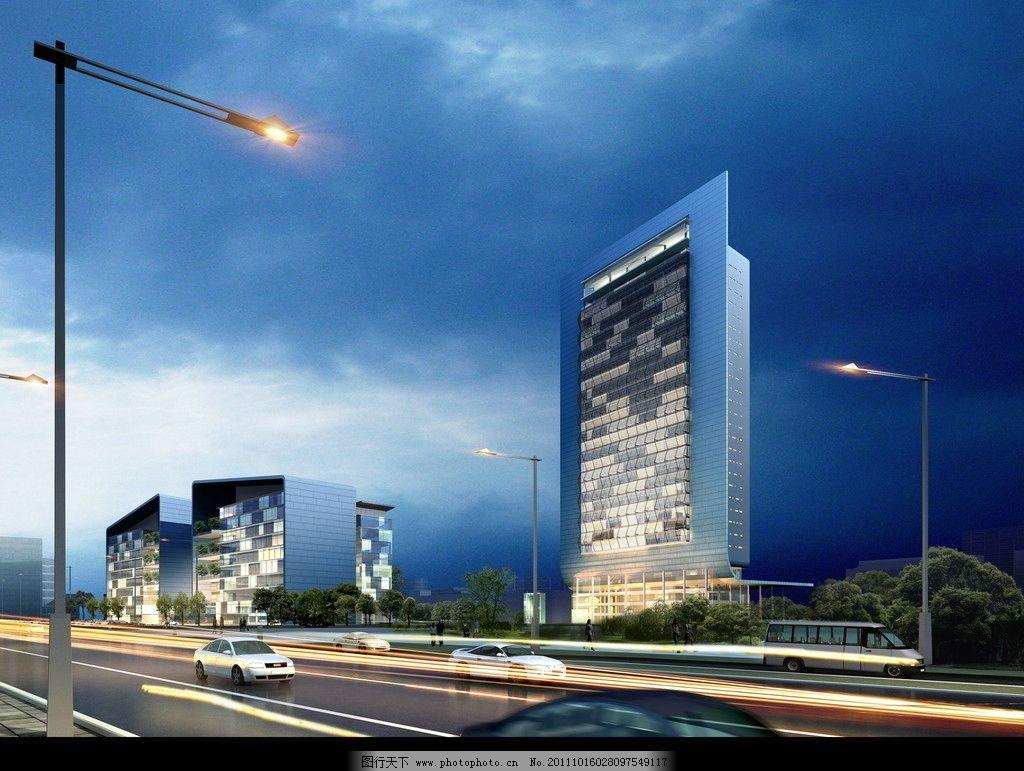 高层建筑效果图图片_建筑设计_环境设计_图行天下图库