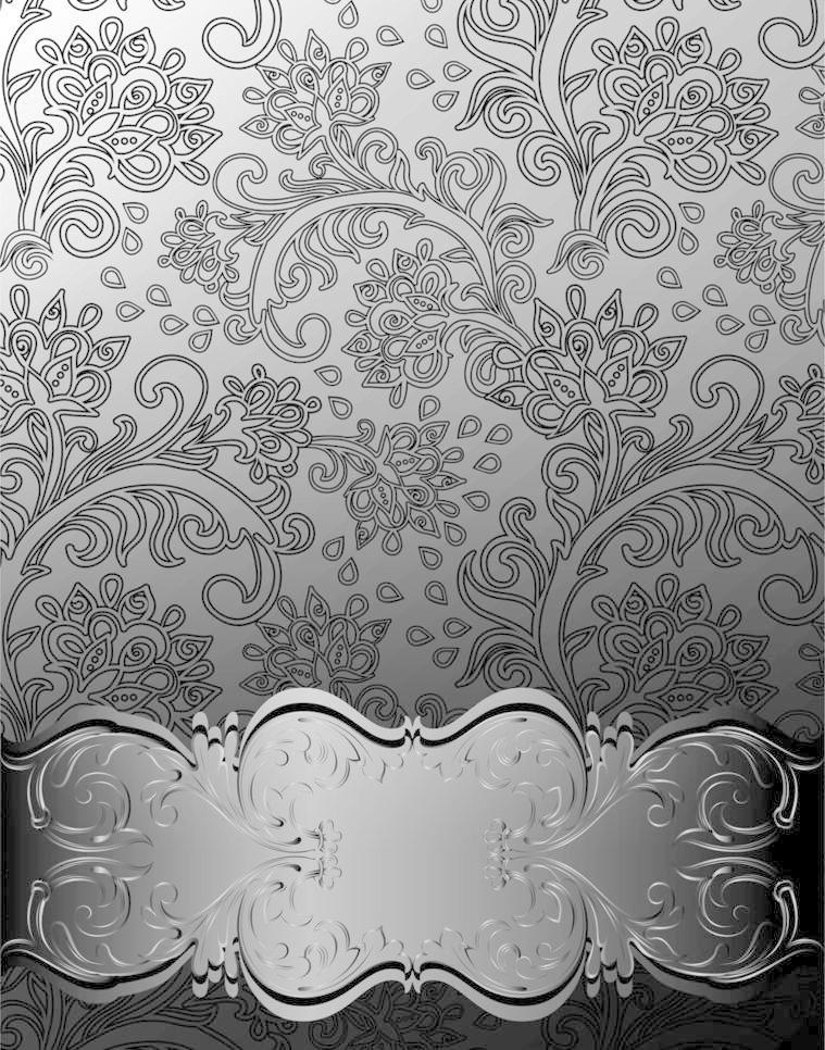 欧式花纹 边框 欧式黑白花纹