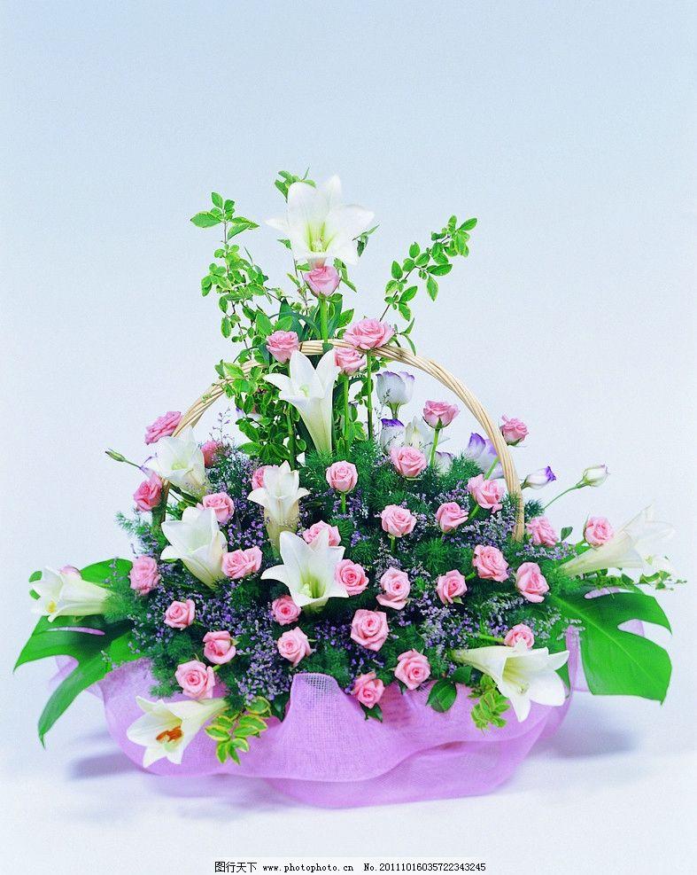 玫瑰花篮 插花 玫瑰花束 玫瑰花高清图片 花朵 花素材 花苞 红玫瑰