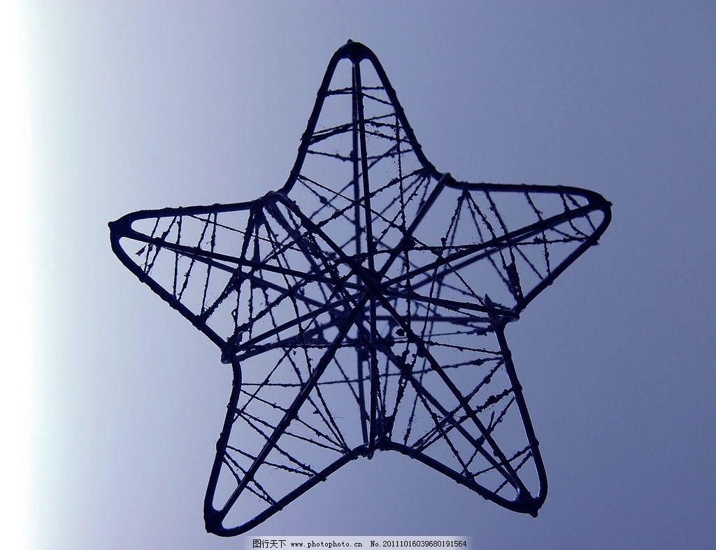 星星钢结构雕塑摄影图片