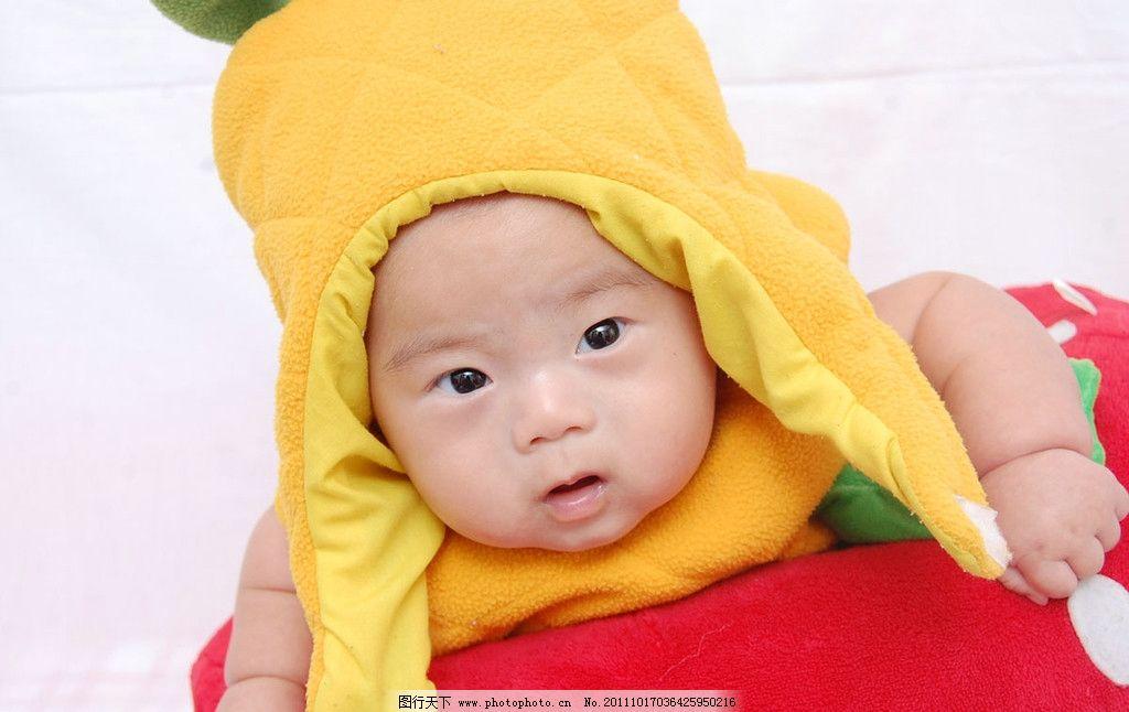 宝宝 可爱的宝宝 带着帽子的宝宝 儿童照 儿童幼儿 人物图库 摄影 200