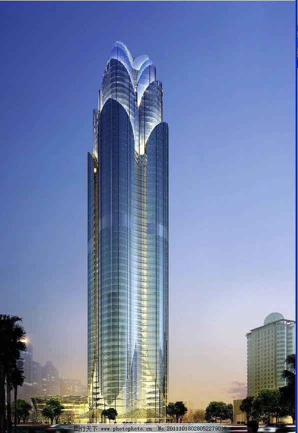 高层建筑效果图 建筑效果图 鸟瞰效果图 公共建筑 城市建筑 建筑外观