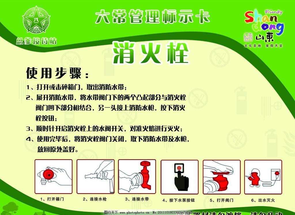 消防栓使用步骤宣传图片