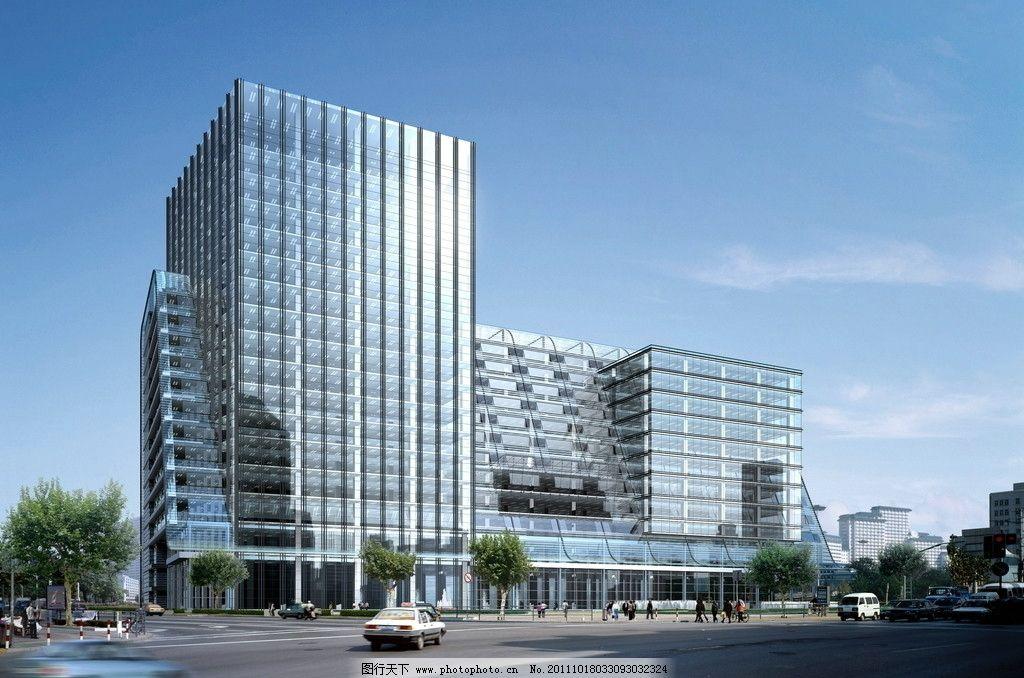 高层建筑效果图 鸟瞰效果图 公共建筑 城市建筑 建筑外观 建筑外立面