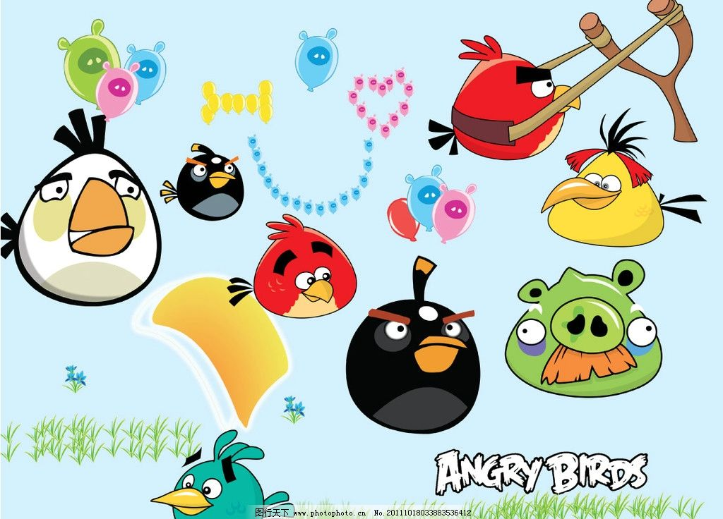 愤怒的小鸟 愤怒的 卡通 可爱卡通 小鸟 矢量素材 其他矢量 矢量 ai