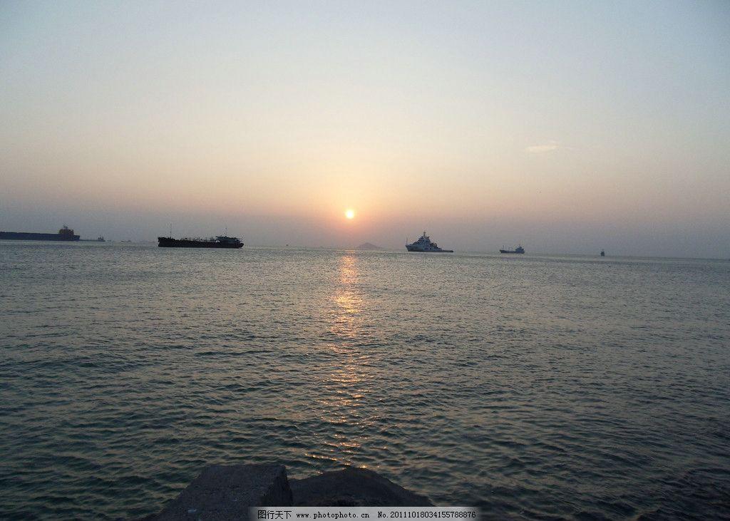海边 夕阳 渔船 沿海 大海 船只 海风 港湾 海景 自然风景 旅游摄影