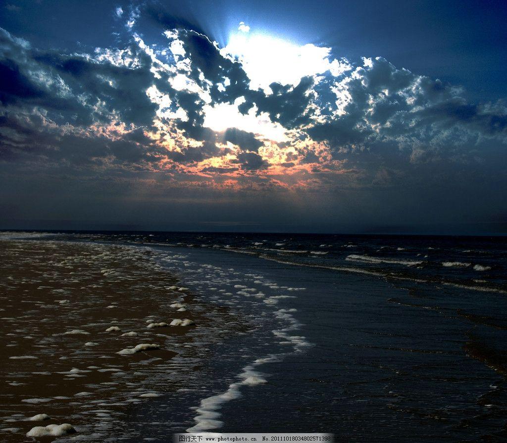 海洋落日图片_自然风景_自然景观_图行天下图库