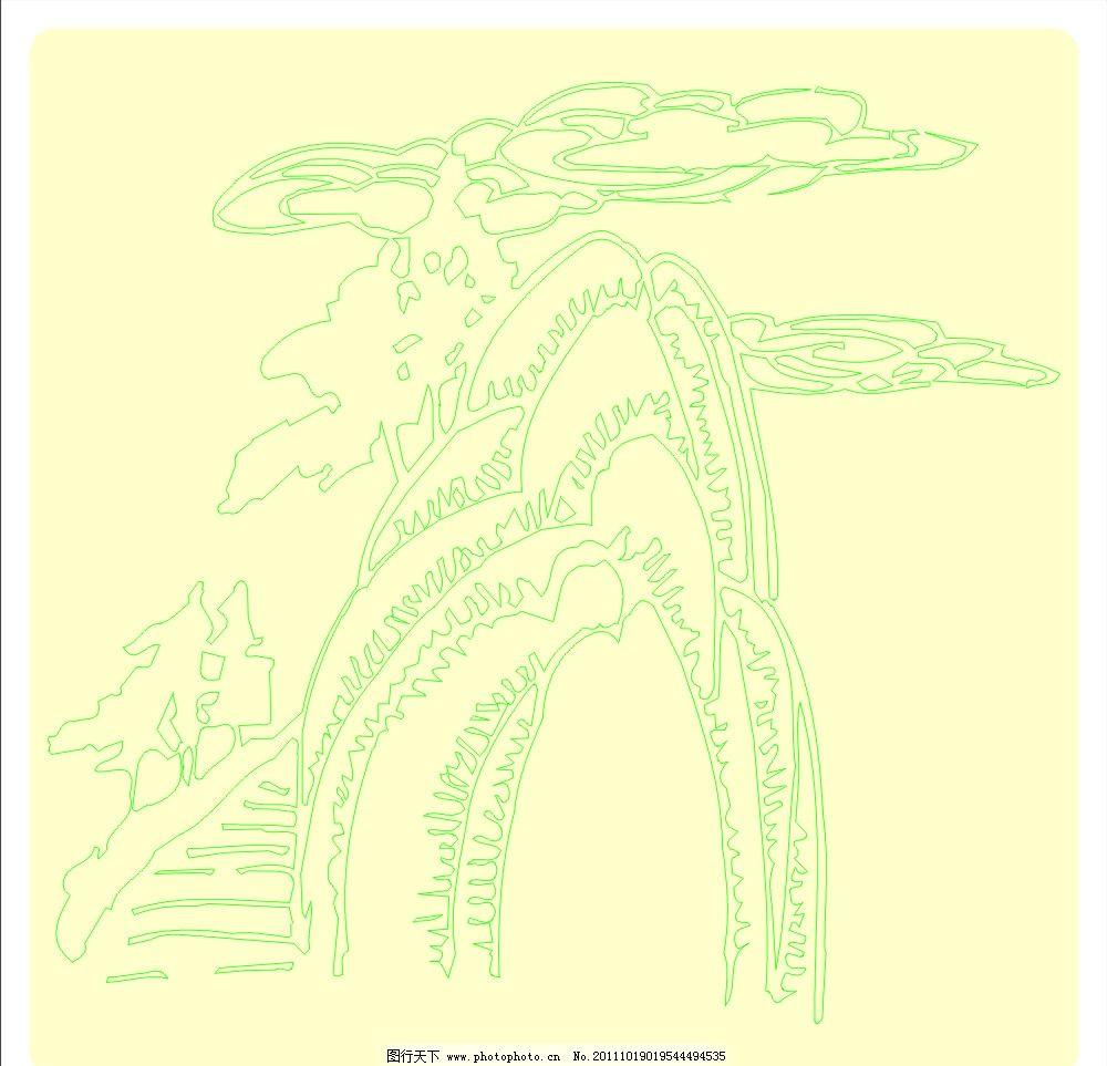 书本插图 植物 树木 大自然 矢量 cdr 素材 窗花天 灯花 礼花 花边图片