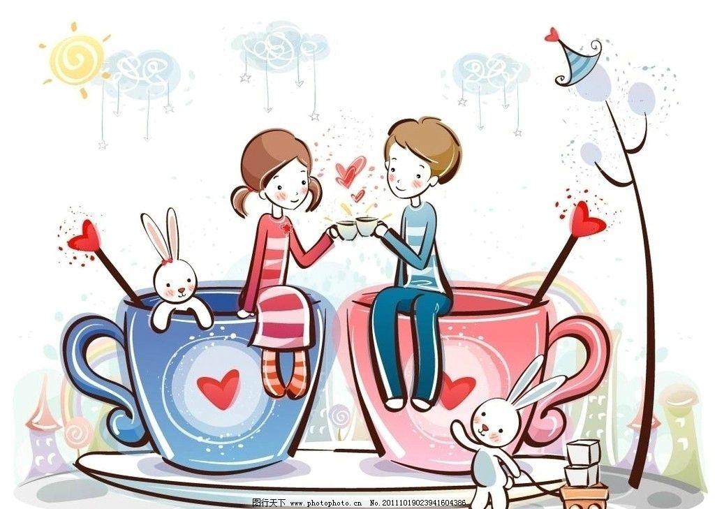 卡通可爱情侣图片