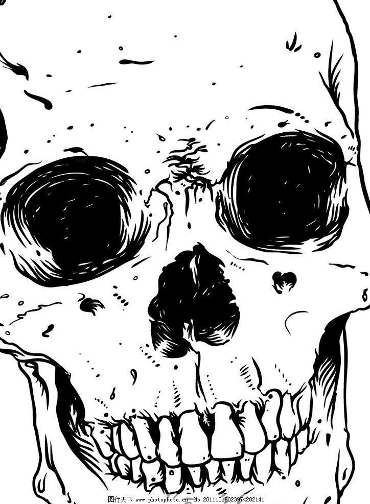 骷髅头 骷髅 印花 诡异 朋克 创意 logo 其他人物 矢量人物 矢量 ai图片