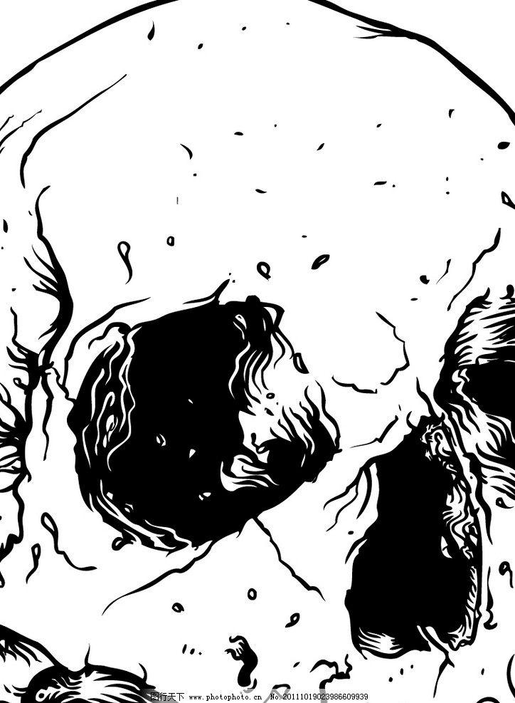 骷髅头 骷髅 印花 诡异 朋克 创意 logo 其他人物 矢量人物 矢量 ai