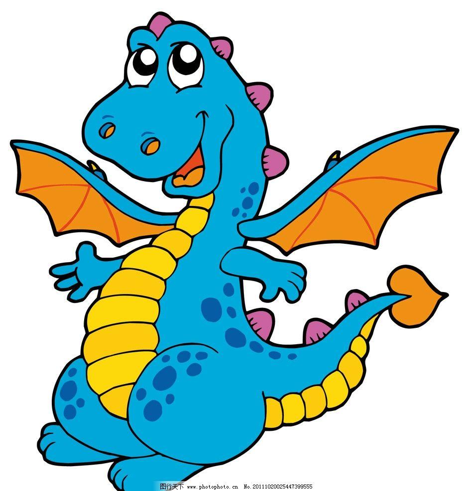 卡通恐龙 可爱 其他生物 矢量