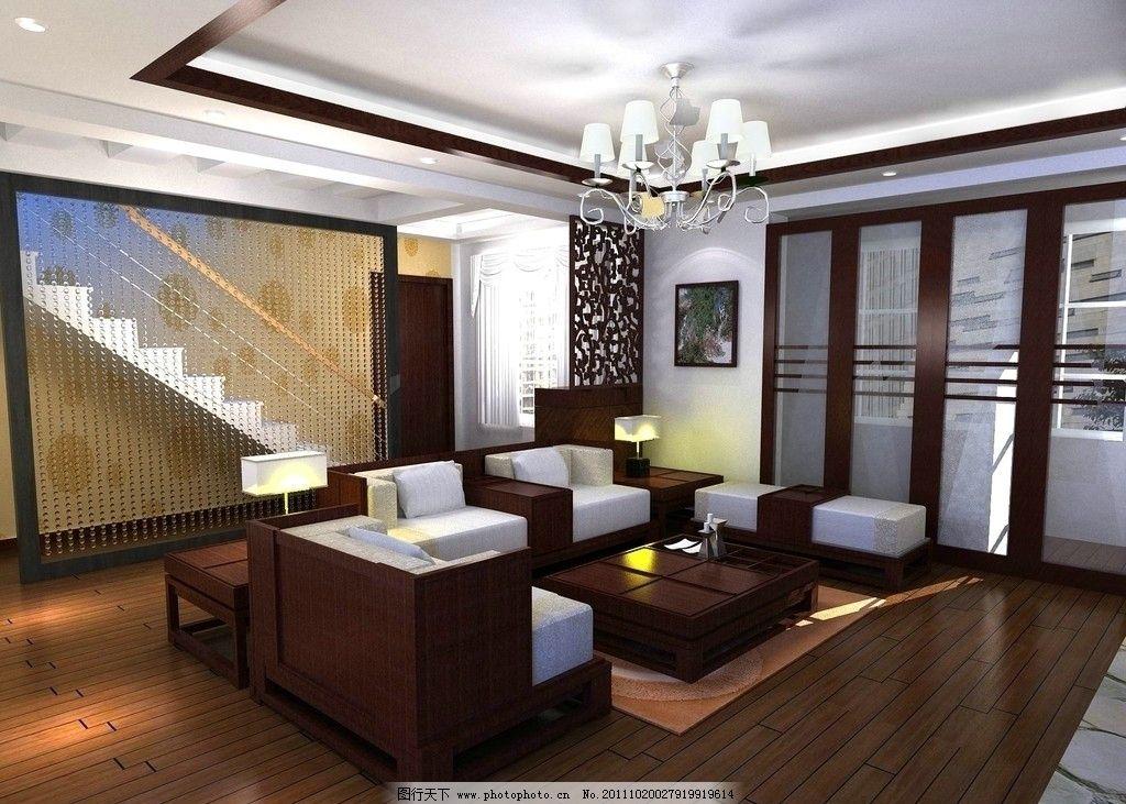 客厅效果图 电视机背景墙 隔断      水晶帘 造型 设计        吊顶