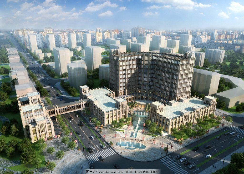 鸟瞰图 室外建筑 建筑设计效果图