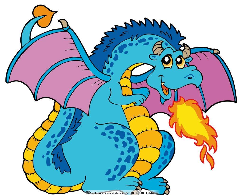 卡通恐龙 可爱 生物世界 其他生物 矢量