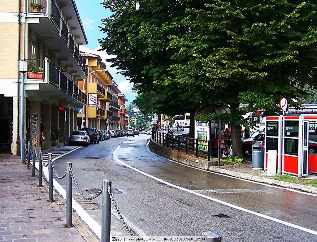 城市街道风景图片